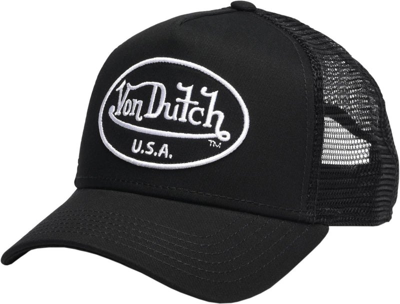 Von Dutch 51 Trucker Snapback Baseball Cap Black