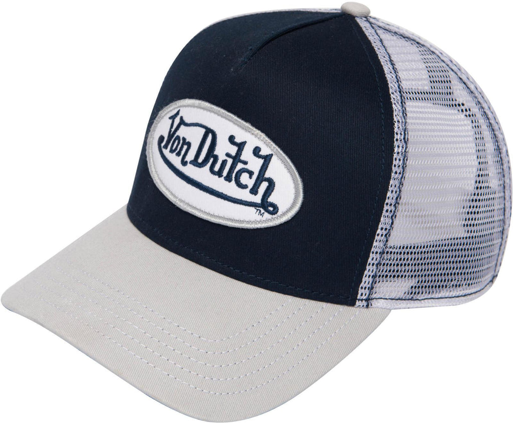Von Dutch Trucker Snapback Baseball Cap	Navy/White