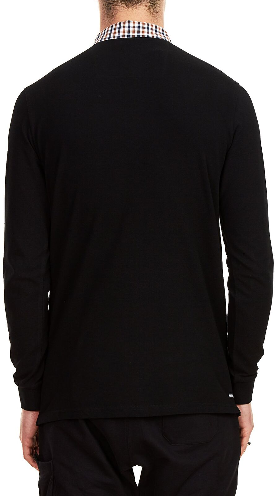 Weekend Offender Bentvena Long Sleeve Polo Shirt Black