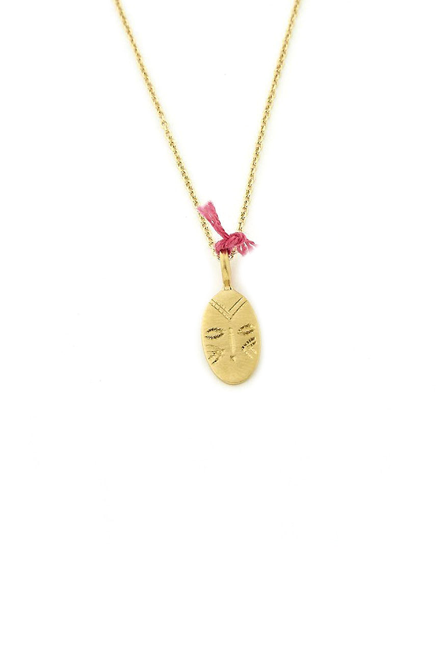 Ombre Claire necklace masque gold plated silver
