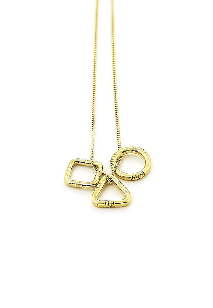Ombre Claire necklace geometric gold plated silver