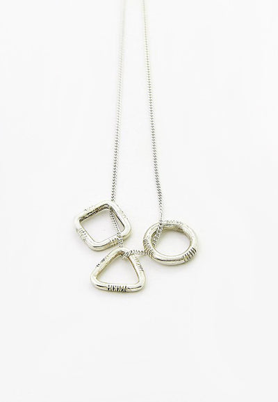Ombre Claire necklace geometric silver