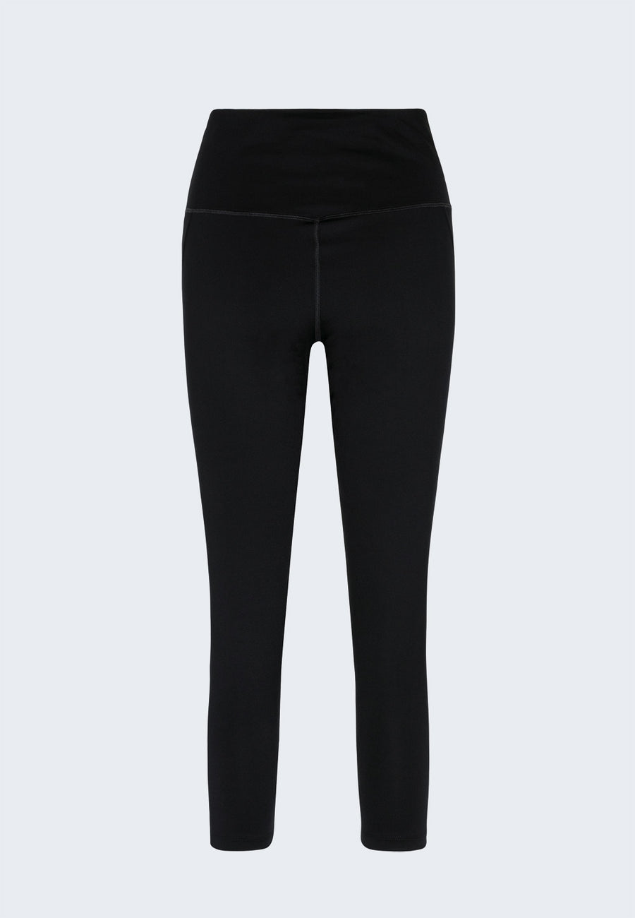 Compressive high waist Leggings schwarz