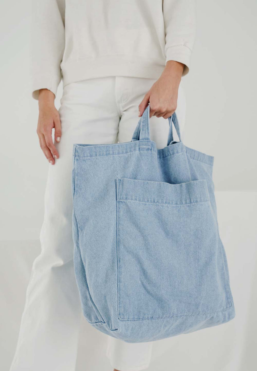 Denim Tote Giant Pocket