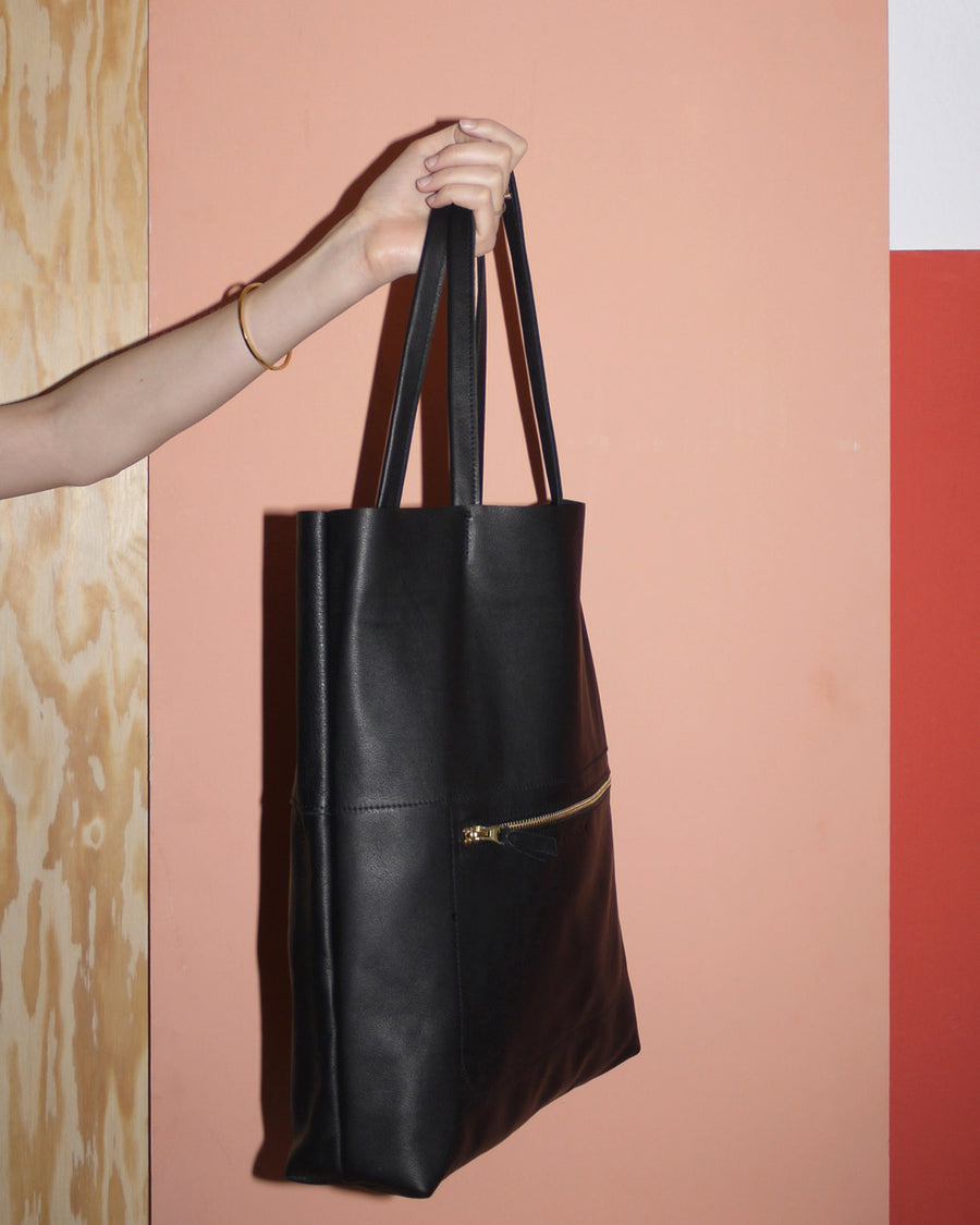 Kvinna Bag ANA DUO black tote ökoleder