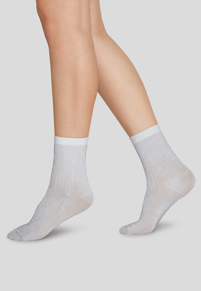 Stella Socken Shimmery Light-Grey