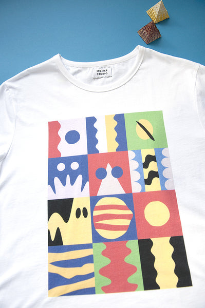 T-Shirt: PIECES OF BROTHERHOOD | Artist: Janne Kokkonen - Streetwear - Ingmar Studio