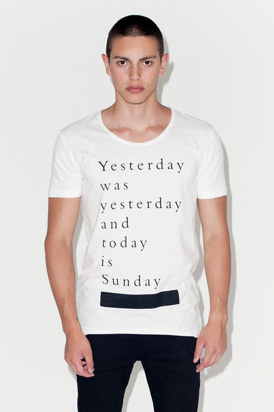 T-Shirt: YESTERDAY WAS YESTERDAY | Artist: Ingmar Studio - Streetwear - Ingmar Studio