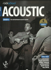 Rockschool RSL Exams Acoustic Guitar Grade Books - Debut to Grade 8