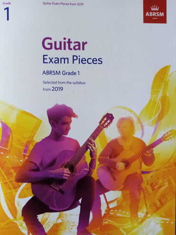 ABRSM Guitar Exams Grade 1 Book 2019 Syllabus