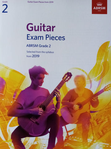 ABRSM Guitar Exams Grade 2 Book 2019 Syllabus