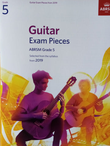 ABRSM Guitar Exams Grade 5 Book 2019 Syllabus