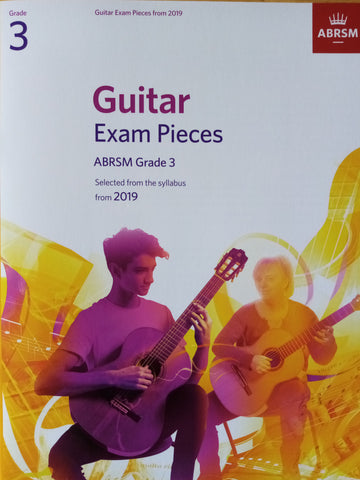 ABRSM Guitar Exams Grade 3 Book 2019 Syllabus