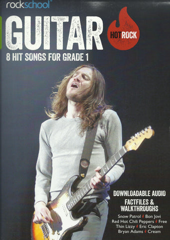 Rockschool Hot Rock Guitar Grade 1 Book Free Choice Pieces