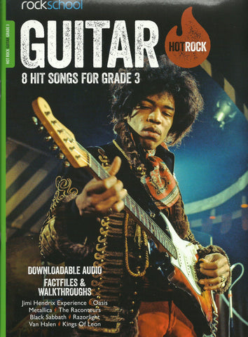 Rockschool Hot Rock Guitar Grade 3 Book Free Choice Pieces