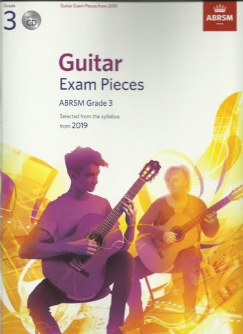 abrsm classical guitar grade 3 exam book cd back