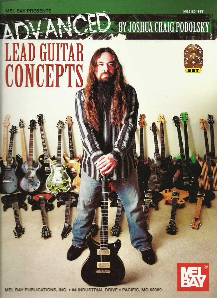Advanced Lead Guitar Concepts Book Plus CD and DVD