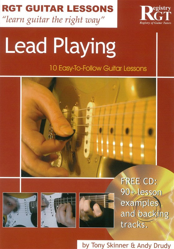 RGT Lead Playing Techniques Guitar Lesson Book and CD