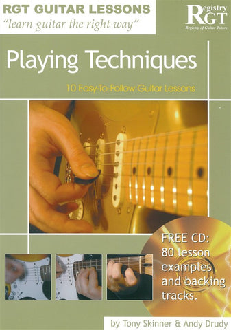 RGT Playing Techniques Guitar Lesson Book and CD
