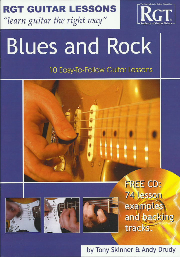 RGT Blues and Rock Playing Guitar Lesson Book and CD