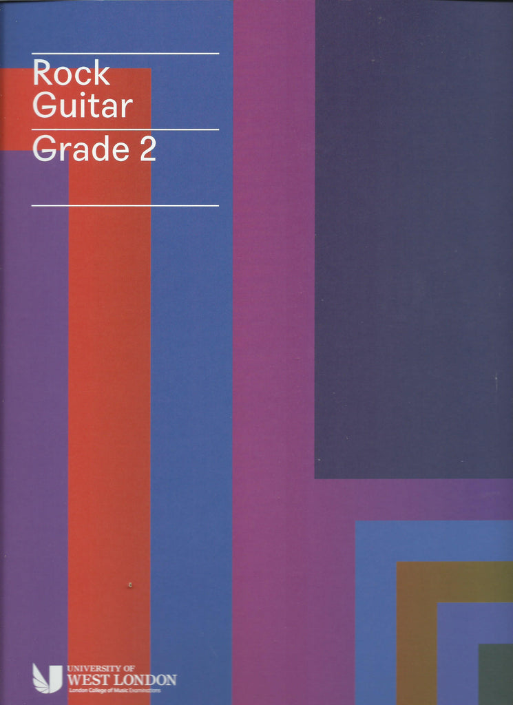 lcm rgt rock guitar grade 2 two book cover
