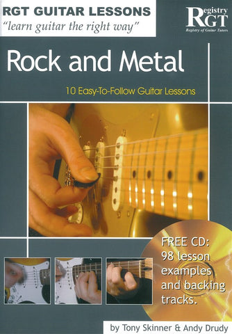 RGT Rock and Metal Playing Guitar Lesson Book and CD