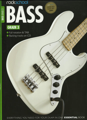 rockschool bass guitar grade 3 front