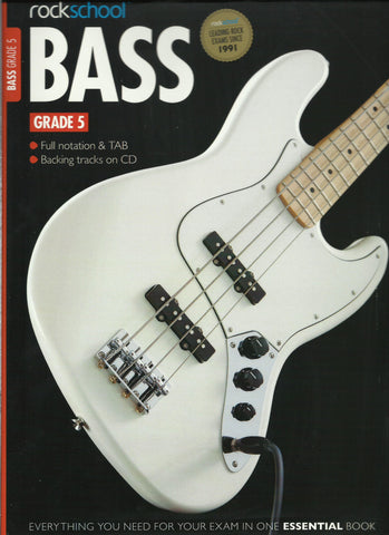 rockschool bass guitar grade 5 front