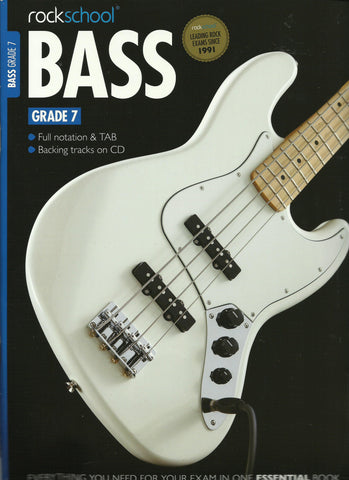Rockschool Bass Grade 7 Seven Exam Book and CD