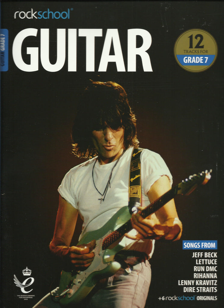 RSL Rockschool Exams Guitar Grade 7 2018 syllabus Book Front