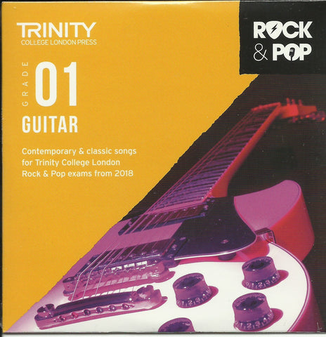 Trinity Rock and Pop Guitar Exam Book Grade 1 CD Front
