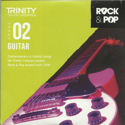 Trinity Guitar Grade 2 Rock and Pop 2018 Exam Backing Tracks CD
