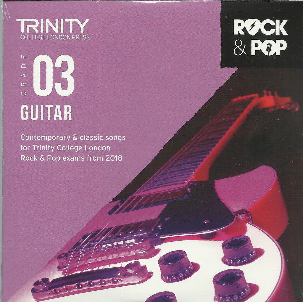 Trinity Guitar Grade 3 Rock and Pop 2018 Exam Backing Tracks CD