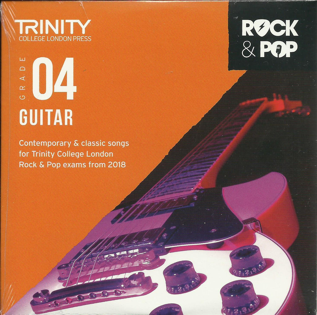 Trinity Rock and Pop Guitar Exam Book Grade 4 CD Back