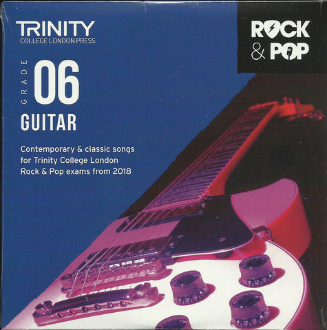 Trinity Guitar Grade 6 Rock and Pop 2018 Exam Backing Tracks CD