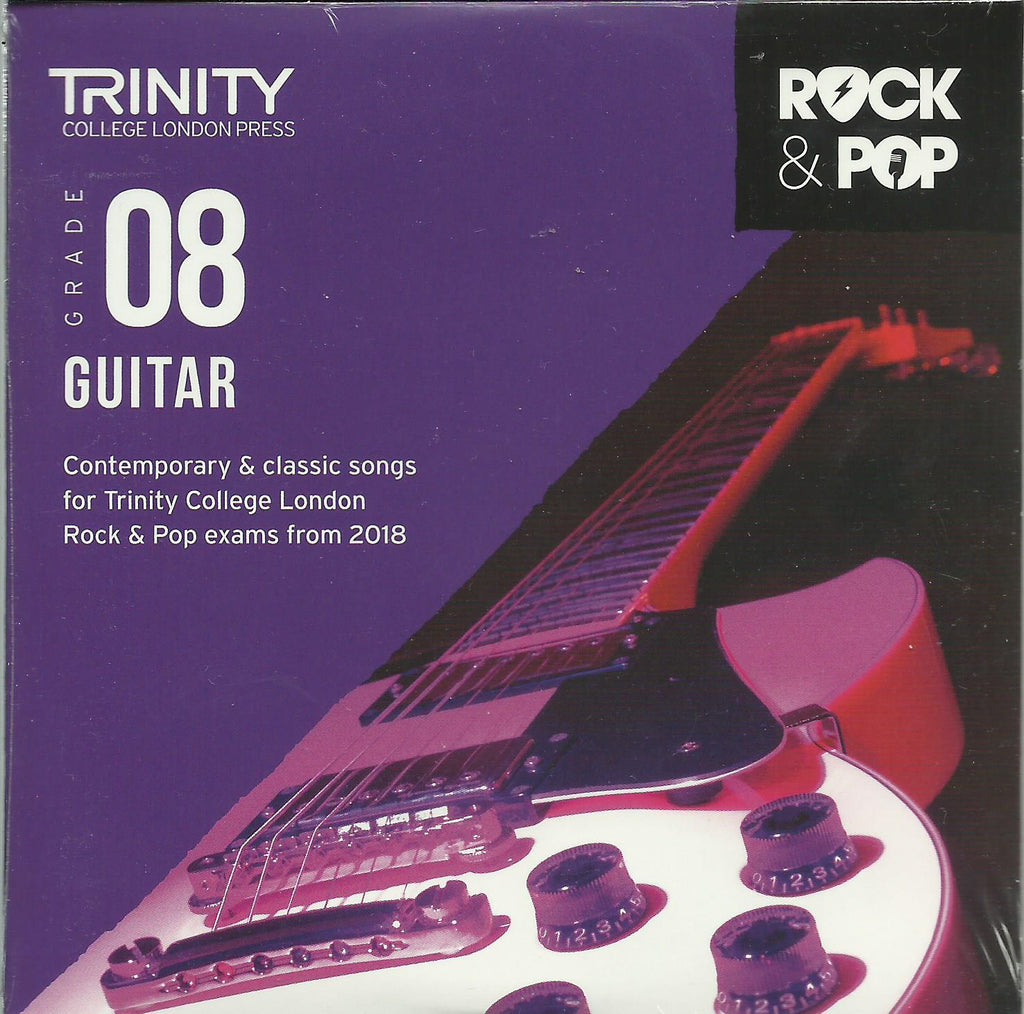 Trinity Guitar Grade 8 Rock and Pop 2018 Exam Backing Tracks CD
