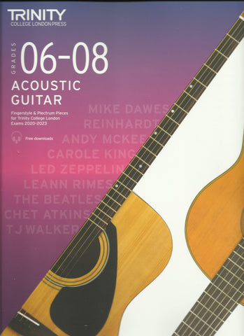 Trinity Acoustic Guitar Grades 6 - 8 Exam Book