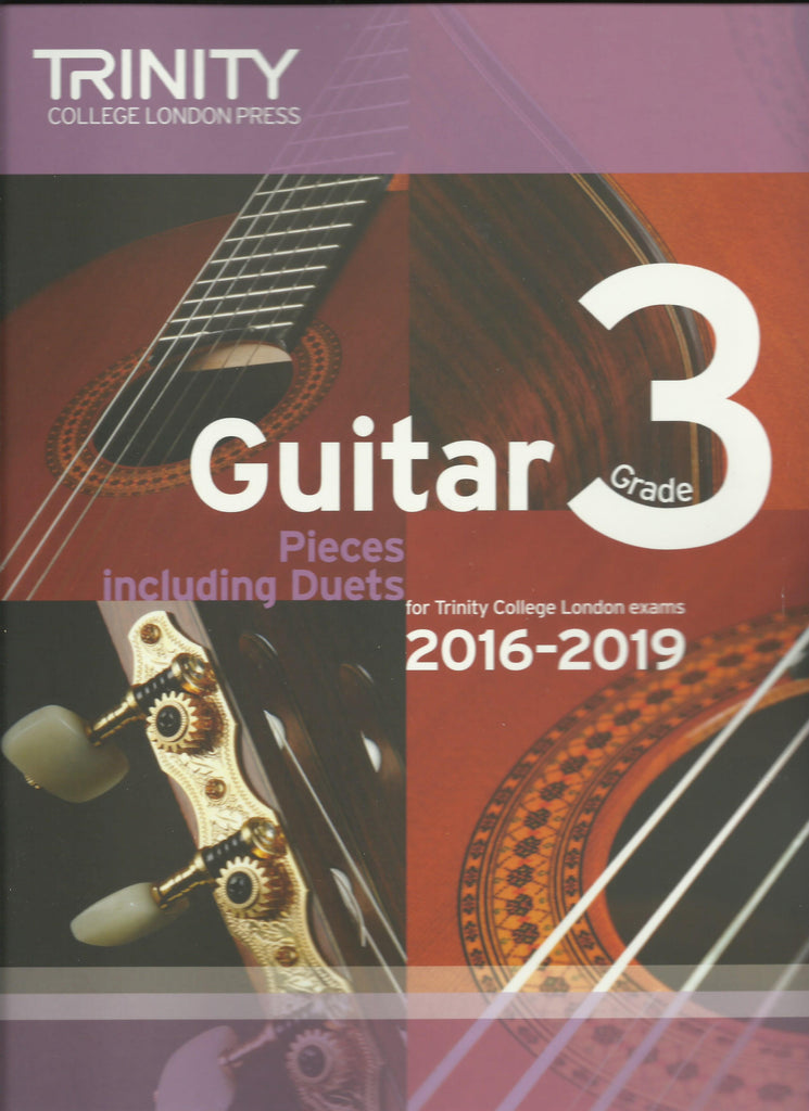 trinity classical guitar exam grade 3 book front