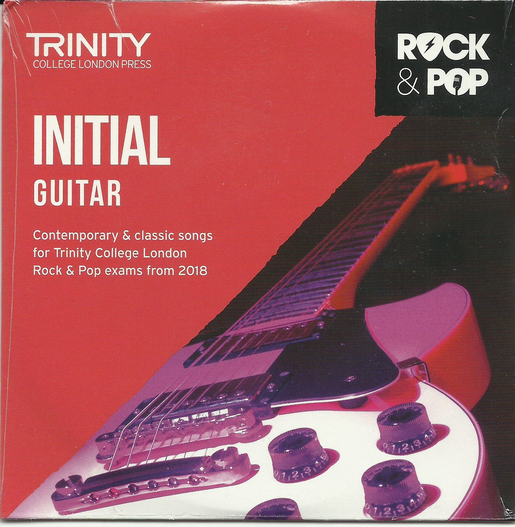 Trinity Rock and Pop Guitar Exam CD Grade Initial Front