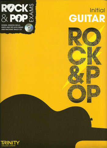 Trinity Guitar Grade Initial Exam Book and CD Rock and Pop