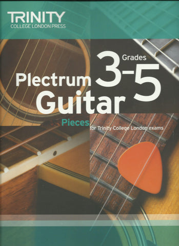 trinity plectrum guitar grade 3 to 5 exam book front