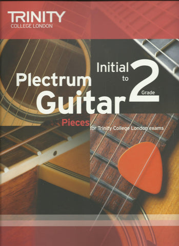 trinity plectrum guitar initial to grade 2 exam book front