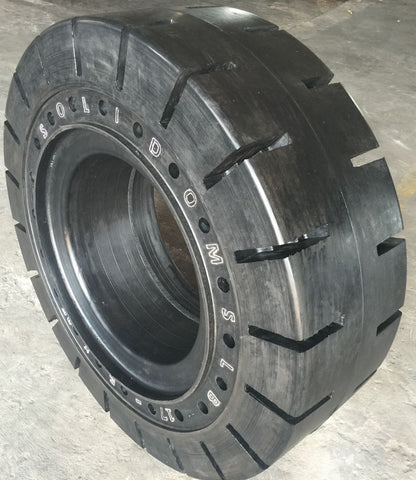 17.5-25 Solid Tire/Wheel Assembly, Traction, Non-Aperture, SRTWA17525