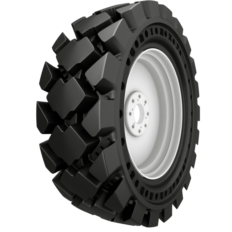30X10-16 (10-16.5) Galaxy Hulk SDS Solid w/Apertures, Skid Steer Tire & Wheel Assembly, 589717 589718