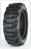 10-16.5 Solid Tire & Wheel Assembly, Maxam MS705 R-4 XD, Traction, Non-Aperture, Left Side 5315L