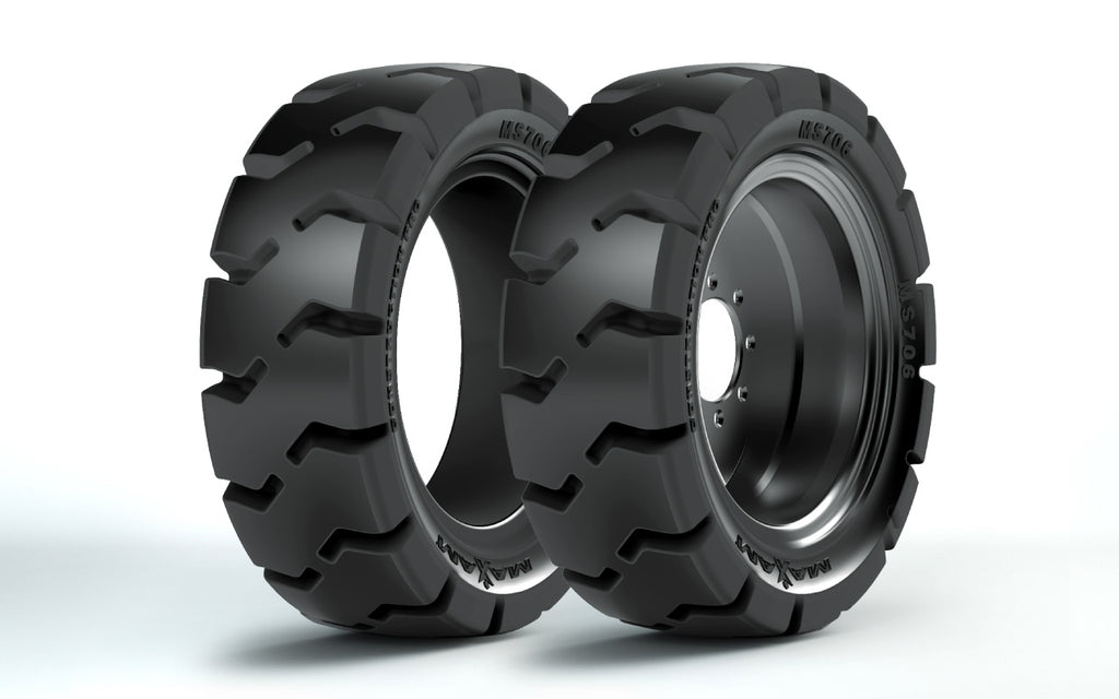 12-16.5 (33x12-20) Solid Tire Only, Maxam MS706 L5, Traction Non-Aperture, 53524