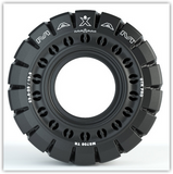 29.5-25 Maxam MS708 Traction (25-25) Aperture Solid Tire & Wheel Assembly 53240-WA3.75