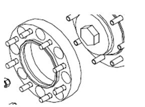 "SN6302-8.0-1 Wheel Spacer, 1.00"" For Loegering F Series Trailblazer Over The Tire (OTT) Steel Tracks"