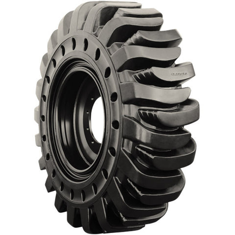 14.00-24 (14.00X24) Brawler Solidflex HPS Telehandler Tire & Wheel Assembly (Solid Tire-Traction)