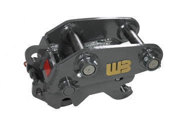Werk-Brau Mini-Excavator Coupler, 5000-11000 Lb Weight Class Machines, Spring Loaded SLQT-1MN